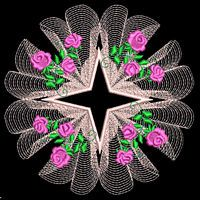 PRECIOUS PINK ROSES - 30 MACHINE EMBROIDERY DESIGNS (AZEB)
