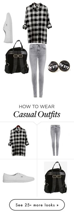 """Casual attire"" by emo-outcast on Polyvore featuring J Brand and Vans"