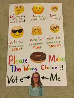 School Student Council Emoji Poster / Make Easy No Frustration; It's Clever And Funny :)