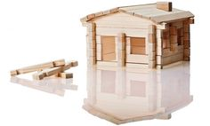 Kaufmann Mercantile | Pine Wood Building Blocks, Log Cabin | Made in USA