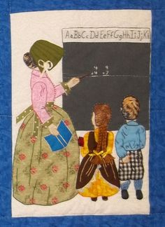"""#3.  Bonnet Girls Quilt Blocks 