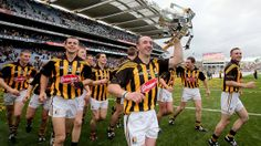 Eoin Larkin holds the Liam MacCarthy Cup - Kilkenny's 34th - Hurling is so exciting - especially when your home county wins.