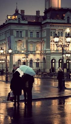 Walking the streets in the rain.. Paris, France