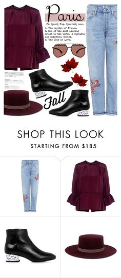 """I Love Paris In the Fall"" by ifchic ❤ liked on Polyvore featuring Citizens of Humanity, McQ by Alexander McQueen, Janessa Leone, Grey Ant, paris, contestentry, ifchic and fallgetaway"