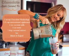 This Chocolate Apple Caramel Pie Shakeology Recipe is one to add on the MUST try list! Move over Pumpkin Spice latte.there's new competition in town! Chocolate Mouse Recipe, Coconut Hot Chocolate, Chocolate Apples, Homemade Chocolate, Chocolate Recipes, Coconut Milk, White Chocolate, Caramel Pie, Caramel Apples