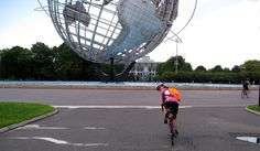 New Jersey Unisphere - around the world with the Traffic Cone Bag!