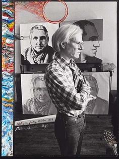 """""""Andy at the Factory"""", 1979, by Peter Beard."""