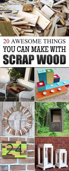 20 Awesome Things You Can Make With Scrap Wood! (via For DIYers) DIY Wood Working Projects: 20 Awesome Things You Can Make With Scrap Wood! The post 20 Awesome Things You Can Make With Scrap Wood! (via For DIYers) appeared first on Woodworking Diy. Wood Projects For Beginners, Small Wood Projects, Scrap Wood Projects, Wood Working For Beginners, Craft Projects, Project Ideas, Craft Ideas, Pallet Projects, Outdoor Wood Projects