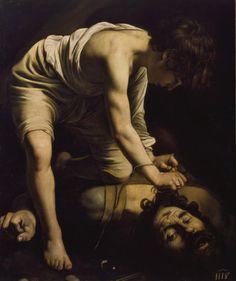 David vencedor de Goliat/ David with the head of Goliath// Circa 1600// Michelangelo Merisi Caravaggio #Bible #DavidAndGoliat