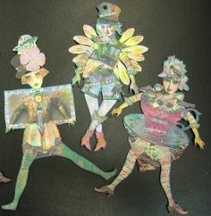 Edgy art paper dolls samples created for a workshop in Toronto by me...