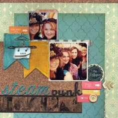 Layout by April Derrick - Used STAEDLTER Pastel Chalks to color the flags, and Industrial Chic tape!