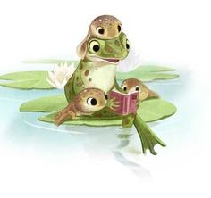 Illustrations and Animal Art by Sydney Hanson by SydneyHansonArt Frosch Illustration, Cute Illustration, Cute Animal Drawings, Cute Drawings, Cute Animals To Draw, Illustration Mignonne, Art Fantaisiste, Art Mignon, Frog Art