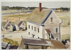 House by 'Squam River, Gloucester, 1926.Edward Hopper.Watercolor over graphite pencil on paper.