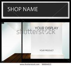 Shop With Empty Display Stock Vector 98884613 : Shutterstock