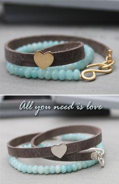 Romantic gift for women Heart bracelet birthday gift by Ofralerner