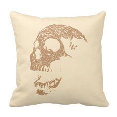 Brown Skull Design.