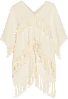 APIECE APART Fringed cotton poncho