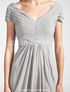 Sheath/Column Off-the-shoulder Floor-length Chiffon Bridesmaid Dress - USD $ 129.99