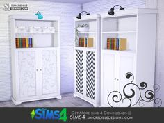 by SIMcredibledesigns.com Found in TSR Category 'Sims 4 Bookshelves'