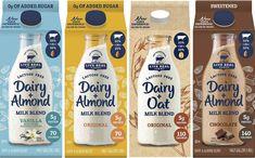 Live Real Farms releases dairy and plant-based milk blends - FoodBev Media Dairy Packaging, Milk Packaging, Chocolate Packaging, Food Packaging Design, Beverage Packaging, Milk Plant, Plant Based Milk, Protein Milkshake, Milk Brands