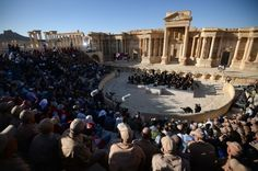 Russian Orchestra Plays Bach Amid Ruins of Palmyra Palmyra Syria, Impressive Image, Ancient Ruins, North Africa, Be Perfect, Middle East, Dolores Park, Army, Tours