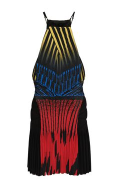 Lacquer Hazard Racer Back Dress With Accordion Pleated Drape by Alexander Wang for Preorder on Moda Operandi