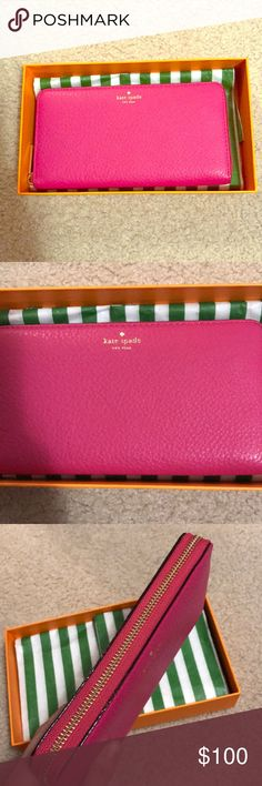 Kate spade wallet NWT. Never used! With original care booklet! In perfect condition! Deep pink/blush color! Brand Kate spade kate spade Bags Wallets