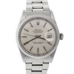 Pre-Owned Rolex Unisex Stainless Steel Datejust Pre Owned Rolex, Luxury Jewelry, Rolex Watches, Jewelry Watches, Stainless Steel, Unisex, Vintage, Accessories, Vintage Comics