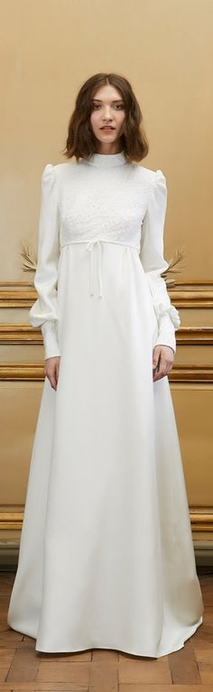 You elegant bride, you. This Delphine Manivet Jonas Crepe Dress is totally romantic, totally perfect.