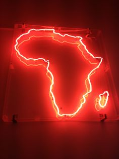 NEON 'AFRICA' SIGN ๑෴MustBaSign෴๑