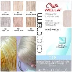 Wella T-18 toner for BLONDE/PLATINUM hair!   Pre-lighten the hair with Wella bleach to desired level before applying toner. If my roots are EXTREMELY  dark I use 30-40 volume on roots only otherwise you can use 20 volume developer. Never pre-lighten previously bleached hair for it can damage the hair. After lightening the hair to desired level mix 1 part Wella Color Charm toning color with 2 parts 20 volume Wella Color Charm developer. Apply to towel dried hair then develop for up to 30…