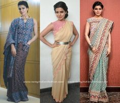 Samantha Hairstyle for Sarees