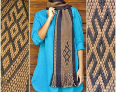 Browse unique items from TelaresNUEVOMUNDO on Etsy, a global marketplace of handmade, vintage and creative goods. Woven Scarves, Unisex, Alpaca Wool, Keep Warm, Slow Fashion, Brown And Grey, Hand Weaving, Textiles, Pattern
