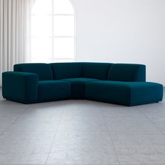 Nothing says generous comfort like a deep and roomy sofa and this is what the Todd sectional chaise sofa delivers. The low-slung design and modern lines bring lounge-worthy indulgence to your living space. Deep Sectional, Living Room Sectional, Modern Sectional, Home Living Room, Living Room Decor, Green Sofa Inspiration, Interior Inspiration, Room Inspiration, 3 Piece Sofa