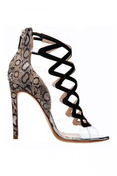 Burak Uyan | Beige Watersnake Cross Sandals | Lyst