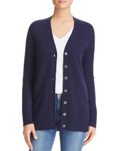 C by Bloomingdale's Grandfather Cashmere Cardigan    bloomingdales.com