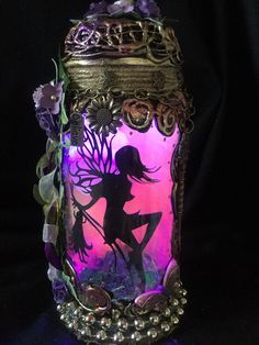 Excited to share this item from my #etsy shop: Enchanting unique beautiful 8 inch handmade colour changing fairy jar light . Mythical Dragons, Fantasy Gifts, Power Colors, Fairy Jars, Color Changing Lights, T Lights, Love Fairy, Beautiful Fairies, Trinket Boxes