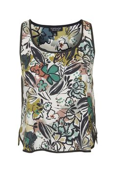 Photo 1 of Floral Paint Print Racer Top