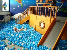 Boat ball pit. Noah, Robbie and David would love this!  Inside playground... I think future house.