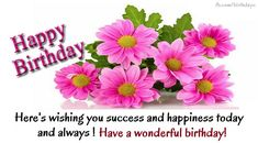 Pink floral birthday greetings card - Flowers - Birthday Greeting