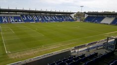 Business meeting with Stephan Thomas today at Colchester football ground.