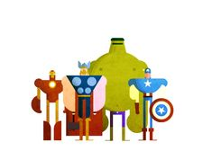 Yeah I know, minimalist superheroes have kind of been done to death lately. But I saw Avengers and couldn't resist, so sue me. (Note to Marvel: please don't sue me.) Anyway, 'gif' it a few seconds for the surprise to kick in. Geddit? Yeah you do.