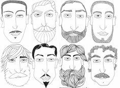 a series of beard illustrations
