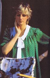 June 6, 1982: Princess Diana at a polo match in Windsor.