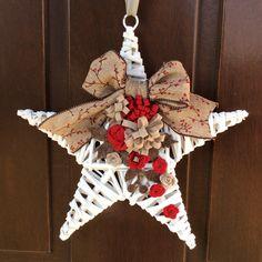 Stella di Natale chic ... Con decori creati a mano