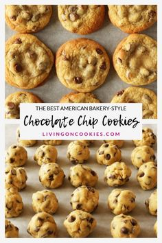 The best American chocolate chip cookies - Rezepte: Cookies & Kekse - Healty Dessert American Chocolate Chip Cookies, Chocolate Chip Cookies Rezept, Chocolate Cookie Recipes, Chocolate Chocolate, Healthy Chocolate, American Cookies Recipe, Chocolate Biscuits, Easy Cheesecake Recipes, Cake Mix Recipes