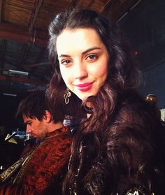 Adelaide Kane (Mary) on the set of Reign!