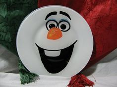 """Olaf """"Santa cookie"""" plate."""