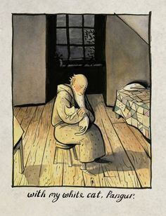The White Cat and the Monk: A Retelling of the Poem Pangur Bán
