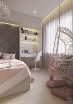 Modest Pink Yellow Bedroom